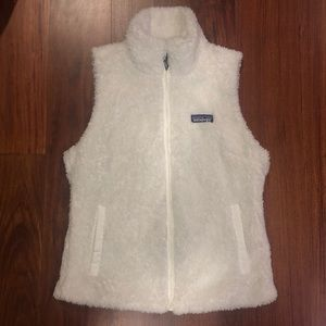 Women's Patagonia Fleece Vest - Small - White